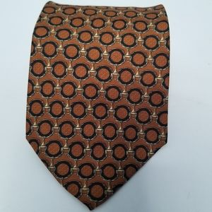 Longchamp silk patterned tie